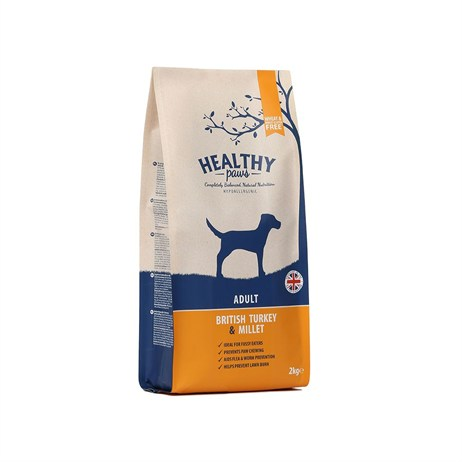 Healthy Paws British Turkey & Millet (Adult) 2kg Dog Food