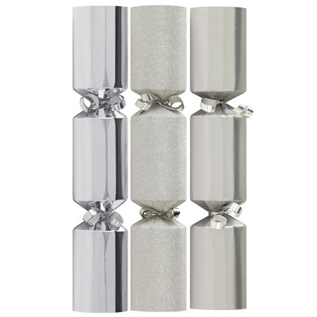 Tom Smith Silver Mini Luxury Crackers - 6 x 8 Inch  (XAFTS2302)