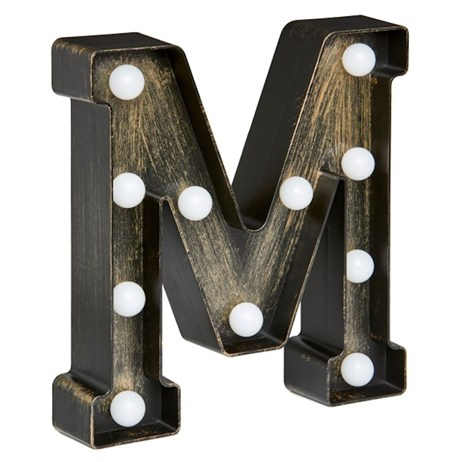 Lumieres Light Up Letters - M (3180323)