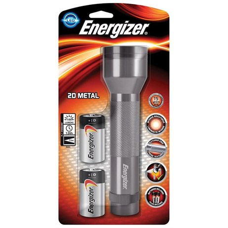 Energizer LED Metal Torch with 2 D Batteries (639807)