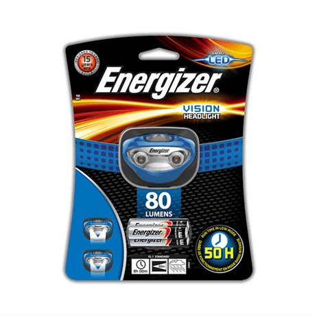 Energizer Vision Headlight with 3 AAA Batteries (E300280300)