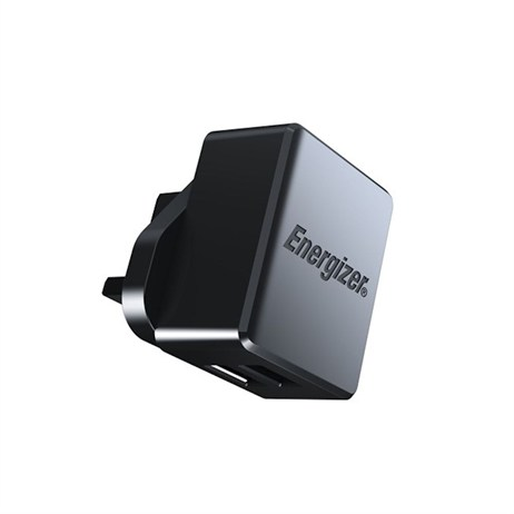 Energizer Hightech Dual USB Wall Charger 2.4A Black (ACA2BUKHBK3)