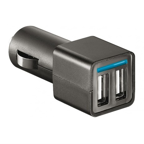 Energizer In Car Charger Adapter 2.4A 2 x USB Black (DCA2BHBK3)