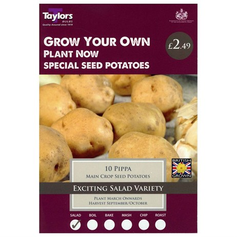 Taylors Bulbs Seed Potatoes Pippa (Main Crop) (10 Pack) (VP507)