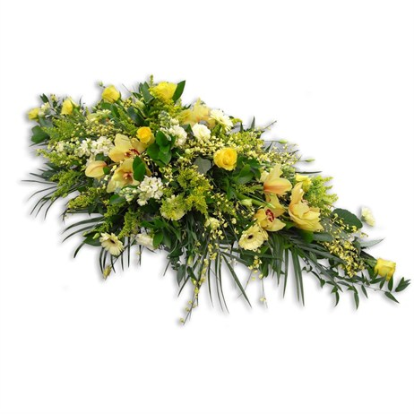 With Sympathy Flowers - 4ft Double Ended Spray Yellow