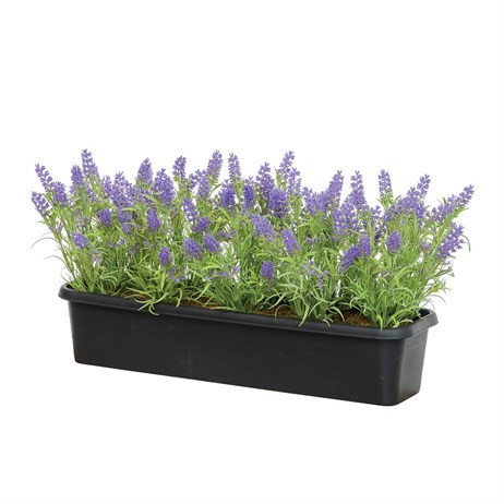 Swift Artificial Window Box Trough With Lavender (50304206)