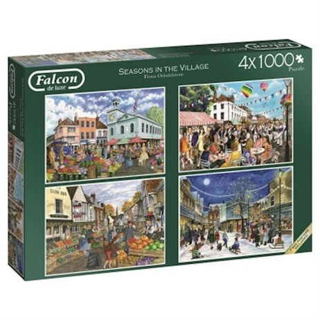 Jumbo 4 X 1000 Piece Jigsaw Puzzle - Seasons In The Village (11226)