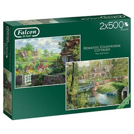Jumbo 2 X 500 Piece Jigsaw Puzzle - Romantic Countryside Cottage (11261)