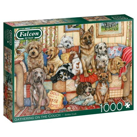 Jumbo 1000 Piece Jigsaw Puzzle - Gathering On The Couch (11293)
