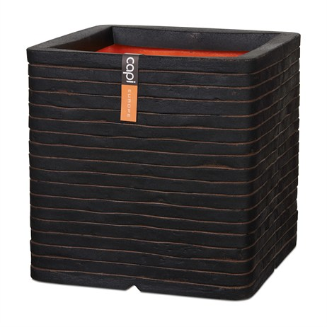 Cadix Planter Square Row NL 40X40X40 Dark Brown (KRWB903)