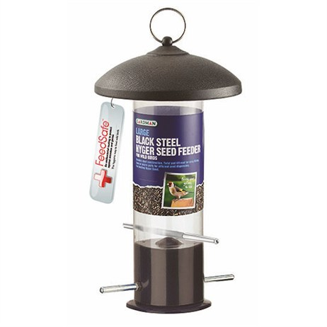 Gardman Large Black Steel Nyger Seed Feeder (A01516)