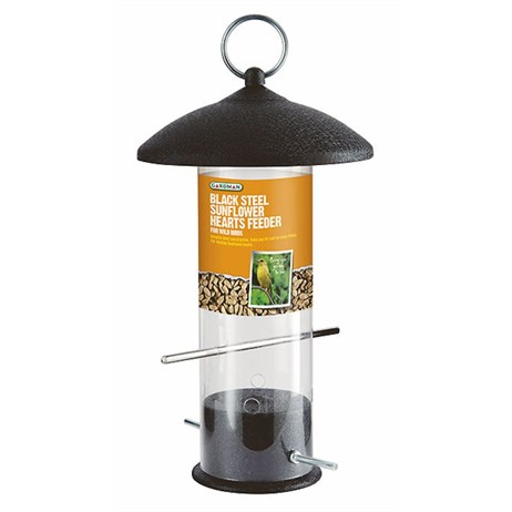 Gardman Large Black Steel Sunflower Heart Feeder (A01524)