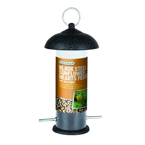 Gardman Black Steel Sunflower Hearts Feeder (A01533)