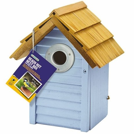 Gardman Beach Hut Nest Box Blue (A01681)
