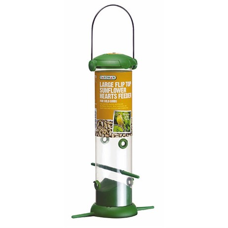 Gardman Large Flip Top Sunflower Hearts Feeder (A04247)