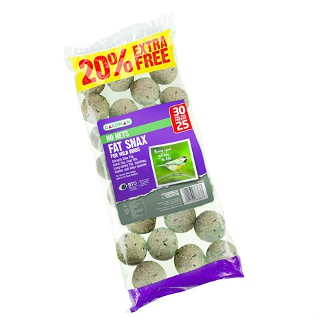 Gardman No Nets Fat Snax 25 with 20% Extra Free (A04256AD)