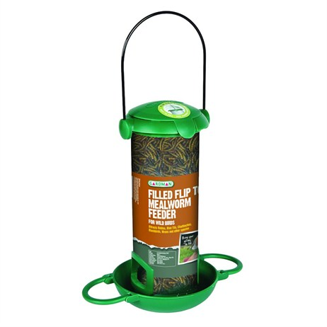 Gardman Filled Flip Top Mealworm Feeder (A04296)