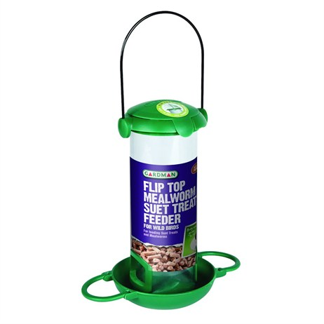 Gardman Flip Top Mealworm and Suet Treats Feeder (A04298)