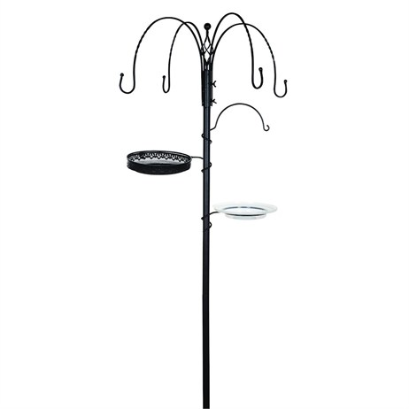 Gardman Decorative Feeding Station - Black (A04390)