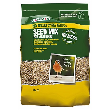 Gardman No Mess Seed Mix 2kg (A06535)