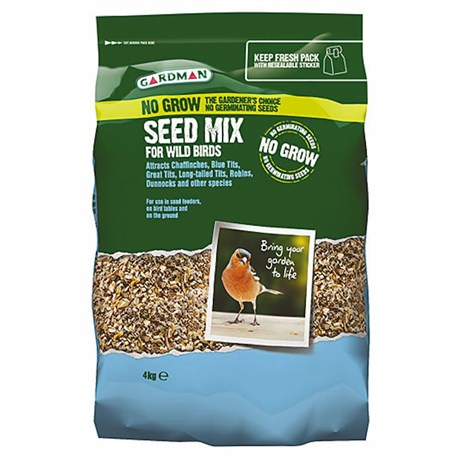 Gardman No Grow Seed Mix 4kg (A06570)
