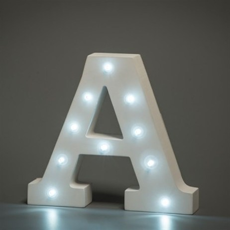 Up in Lights Alphabet Letter Light - A