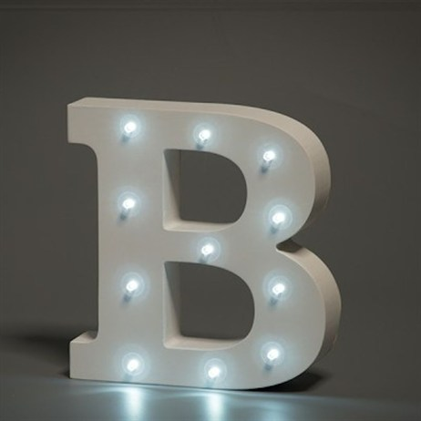 Up in Lights Alphabet Letter Light - B