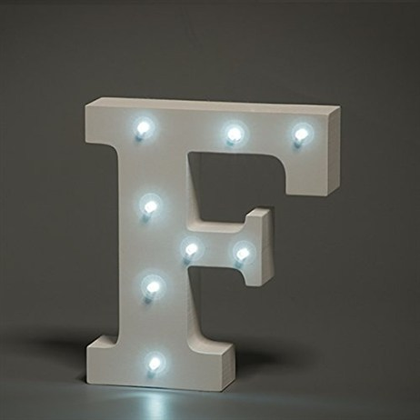 Up in Lights Alphabet Letter Light - F