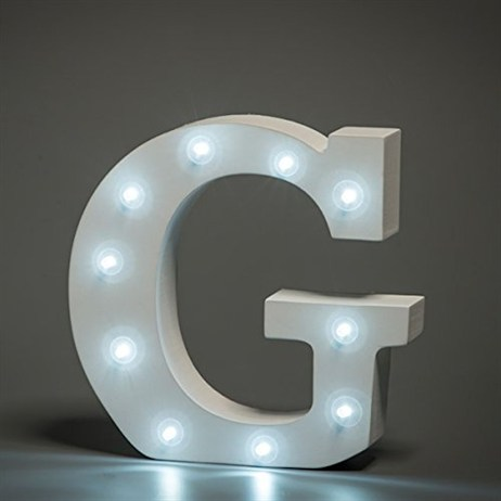 Up in Lights Alphabet Letter Light - G
