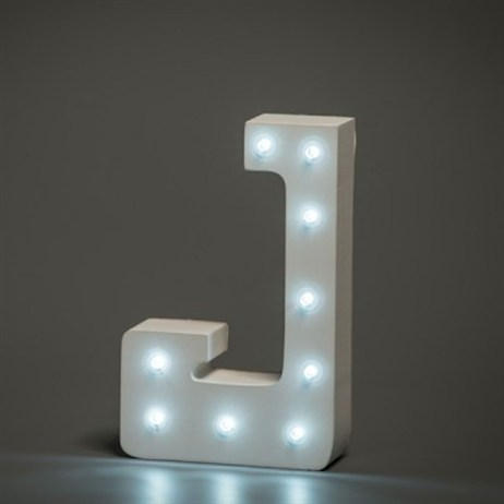 Up in Lights Alphabet Letter Light - J