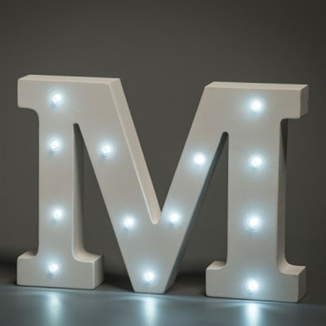 Up in Lights Alphabet Letter Light - M