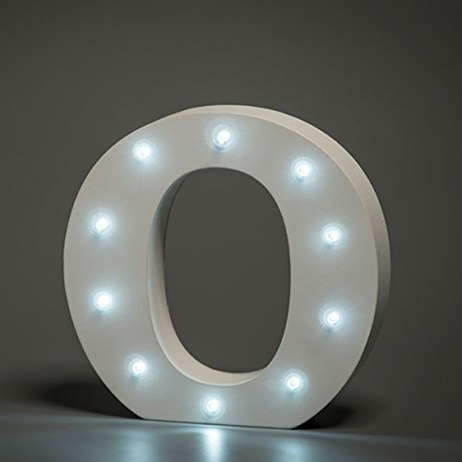 Up in Lights Alphabet Letter Light - O