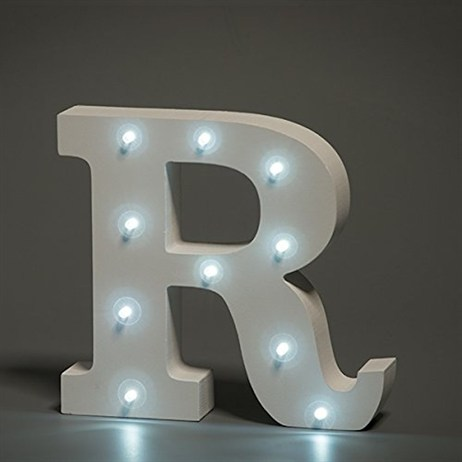 Up in Lights Alphabet Letter Light - R