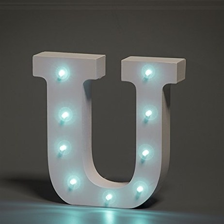 Up in Lights Alphabet Letter Light - U