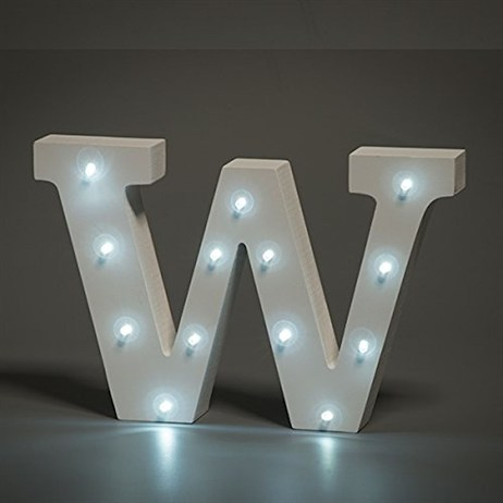 Up in Lights Alphabet Letter Light - W