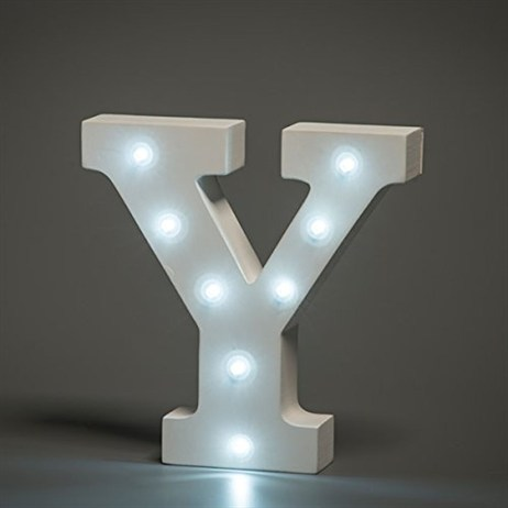 Up in Lights Alphabet Letter Light - Y