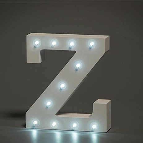 Up in Lights Alphabet Letter Light - Z