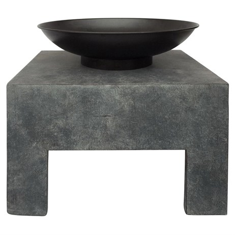 Charles Bentley Metal Fire Bowl With Square Stand (BBQFIREBOWL01) DIRECT DISPATCH