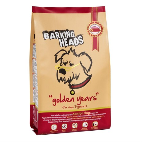 Barking Heads Golden Years Senior Dry Dog Food (Chicken & Salmon) 2kg