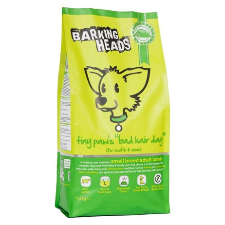 Barking Heads Tiny Paws' Bad Hair Day Small Breed Dry Dog Food (Lamb) 1.5kg