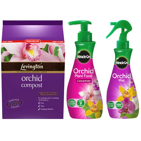 Promotion! Orchid Plant Care Bundle Including Compost, Feed & Mist Just £10.49 - ONLINE EXCLUSIVE