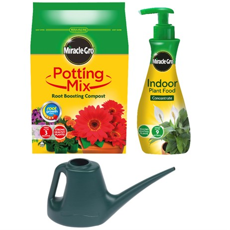 Promotion! Houseplant Care Bundle Including Compost, Feed & Watering Can Just £8 - ONLINE EXCLUSIVE