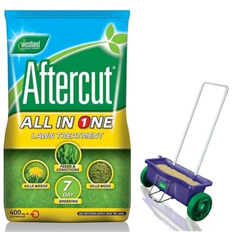 Promotion! Buy a Bag of Aftercut All in One 400sqm and Get The Lawn Drop Spreader Half Price! - ONLINE EXCLUSIVE