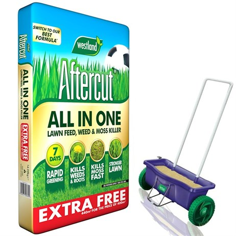 Promotion! Buy Aftercut All In One 400m2 & Get Lawn Drop Spreader Half Price! - ONLINE EXCLUSIVE
