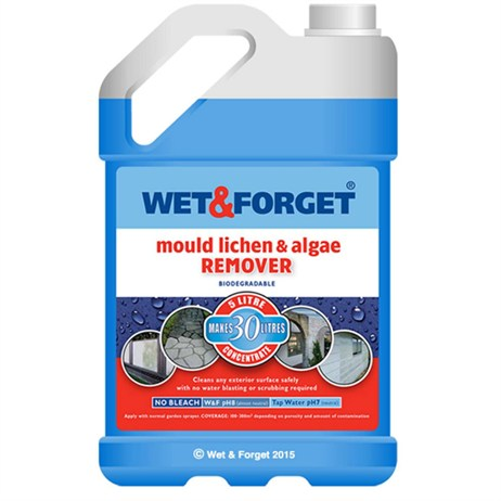 Wet and Forget - Moss Mould Lichen and Algae Remover (5 Litre)