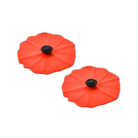 Charles Viancin Red Poppy Lid - Extra Small 10cm (Set of 2) (2905)