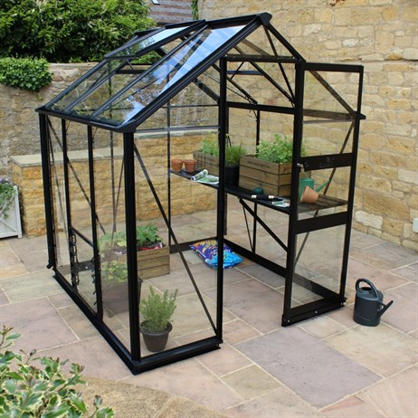 Eden Greenhouses Burford 66 Long-Pane Toughened Glass - Black (V01600)