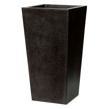 Cadix Planter Tapered L51 x W51 x H120 - Black (FIT915) (DIRECT DISPATCH)