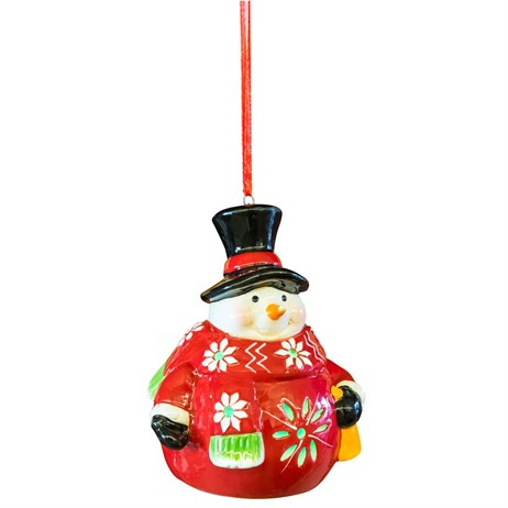 Fountasia Snowman Decoration With Light (77214)