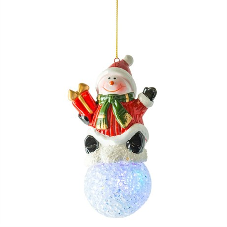 Fountasia Snowman Snowball Decoration With Light (77216)